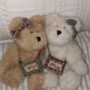 Boyd''s Bear Accents - Boyd's Bear set Bestest and Buddy Truefriends